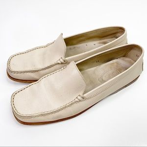 TOD'S Cream Driving Shoes Loafers Slip On